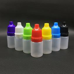 10/15 , Empty Eye Drop Bottle Small Plastic 10 One Sold Cove