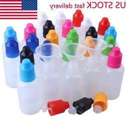 10ml-120ml Plastic Squeezable Dropper Bottles Eye Liquid Dro