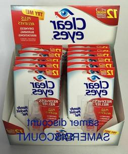12 PACK OF CLEAR EYES  DROPS REDNESS RELIEF 0.2 OZ.6 ML EXP