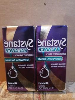 2 SYSTANE BALANCE LUBRICANT EYE DROPS  1/3 FL.OZ.EACH.