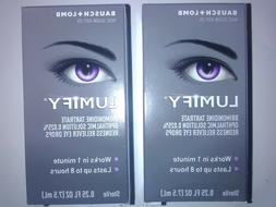 2 Bausch + Lomb LUMIFY Redness Reliever Eye Drops  7.5 mL  6