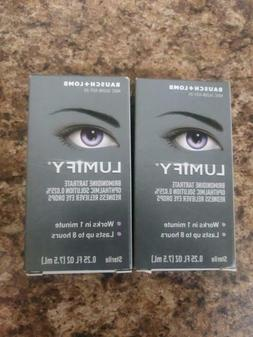 2 Boxes Bausch + Lomb  Lumify  Eye Drops 0.25 oz    Exp 12/2