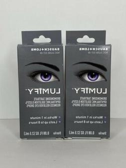 2 LUMIFY Eye Drops from Bausch 0.08 fl oz Sealed