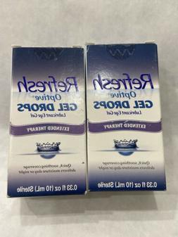 2/Refresh Optive Gel Drops Lubricant Eye Gel 0.33 oz