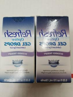 2 Refresh Optive Gel Drops Lubricant Eye Gel 0.33 oz FREE SH