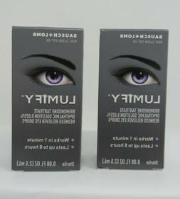 2 Pack, Bausch Lomb Lumify redness reliever eye drop 0.08fl.