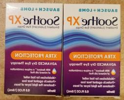 2 Pack Bausch + Lomb Soothe XP Lubricant Eye Drops 0.5oz/15m