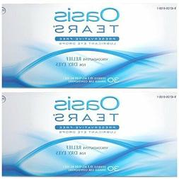 2 Pack Tears Lubricant Eye Drops for Dry Irritated Eyes Reli