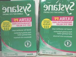 2 Systane ultra PF preservative free dry eye drops 2-25 coun