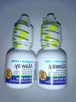 2 x Alaway BAUSCH + LOMB Antihistamine eye drops 0.34 oz