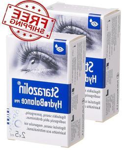 2pcs/20ml Starazolin Hydrobalance Moisturizing Eye Drops/For