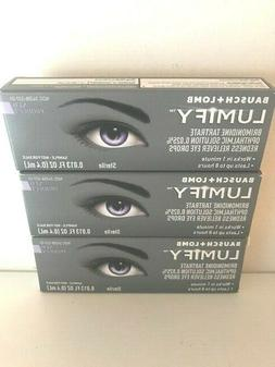 3 Bausch + Lomb Lumify Redness Reliever Eye Drops 0.013 FL O