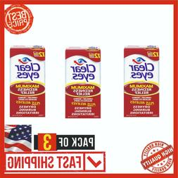 3 PACK Clear Eyes Care Maximum Redness Relief Eye Drops Reli