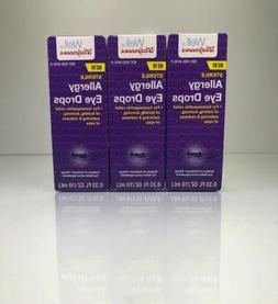 3 Pack Of Allergy Eye Drops By Walgreens Compare To Similasa