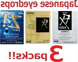 3 packs!! Japanese Eye Drops Santen Sante FX Neo and V-plus
