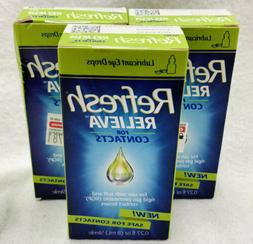 Refresh Relieva Contacts Lubricant Eye Drops - 0.27 oz EXP