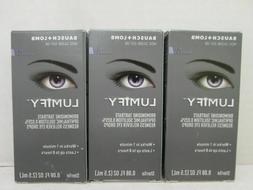 3x BAUSCH + LOMB LUMIFY REDNESS RELIEVER EYE DROPS 0.08 FL O