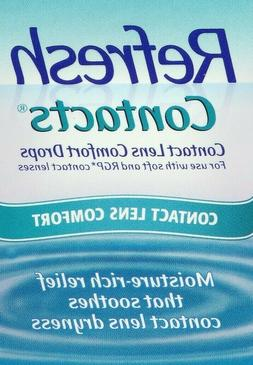 4 Pack - Refresh Contacts Contact Lens Comfort Eye Drops 0.4