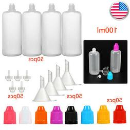 50PCS Plastic Empty Squeezable Dropper Bottles Vape 50/100 E