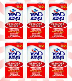 6 Clear Eyes Redness Relief Eye Drops 0.5 OZ