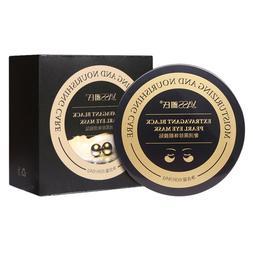 60pcs Black Pearl Gold Collagen <font><b>Eye</b></font> Mask