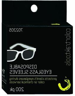 Colortrak Disposable Eyeglass Sleeves, Black