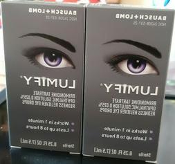 Bausch + Lomb Lumify Redness Reliever Eye Drops. Lot of Two