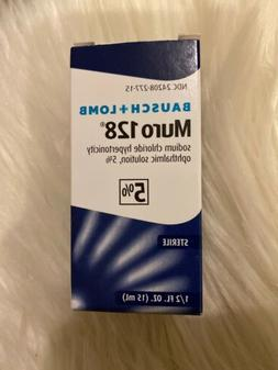 Bausch + Lomb Muro 128 5% Ophthalmic Solution - 0.5oz exp:8/