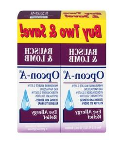 Bausch & Lomb Opcon-A Eye Allergy Relief Eye Drops - 2 Count