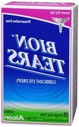 Bion Tears Lubricant Eye Drops Single Use Vials 28 Each