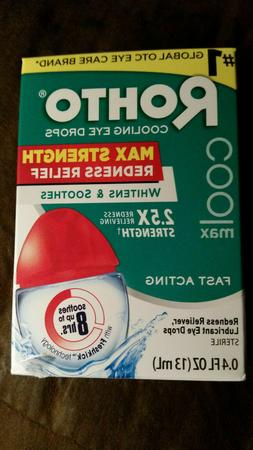 Rohto Cool Max Eye Drops Max Strength Whitens and Soothes Fa