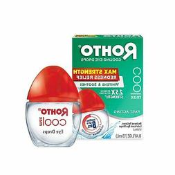 Rohto Cool Max Maximum Redness Relief Cooling Eye Drops, 0.4