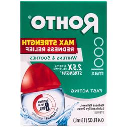 Rohto Cool Max Strength Redness Relief Eye Drops Whitens And