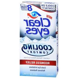Clear Eyes Cooling Comfort Redness Relief Eye Drops, 3 Count