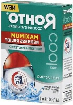 Rohto Cooling Eye Drops Maximum Redness Relief, 0.4 fl