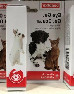 Beaphar Dog Cat Eye Gel for Dry Eyes Dogs Cats Guinea Gerbil