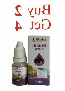 Patanjali Drishti Eye Drops Herbal Natural Ayurvedic 10ml/0.