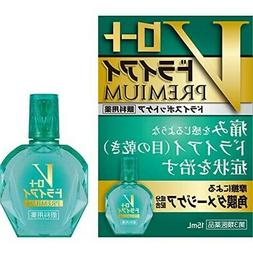Rohto Dry Eye Premium 15mL eye drops green From Japan