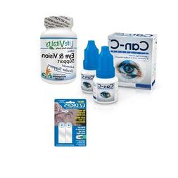 Can-C Eye Drops, Life Vitality Ultra Eye & Vision Support, E