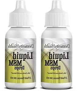 Liquid MSM Eye Drops | 2-Pack of 2 oz. Squeeze-Top Bottles