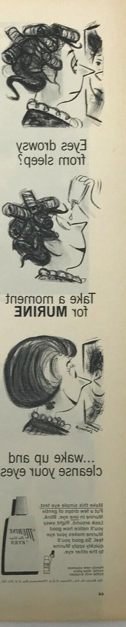 Murine Eye Drops Medicine Magazine Print Ad Vintage Health H