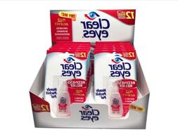 CLEAR EYES EYE DROPS REDNESS RELIEF~ 0.2 OZ.~ EXP 02/20 ~ 12