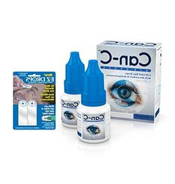 Can-C Eye Drops with EZ Drops Reflective Applicatory Strips