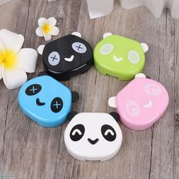 <font><b>Contact</b></font> Lens Box Plastic Cute Panda Case