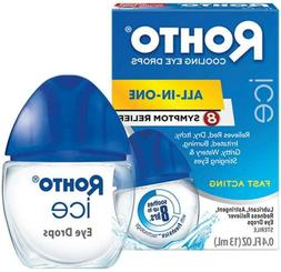 Rohto Ice All-In-One, Multi-Symptom Relief Cooling Eye Drops