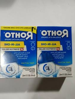 ROHTO Ice Cooling Eye Drops ~ All-in-One Eye Relief 0.4 fl