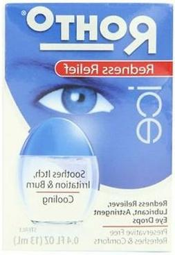 Rohto Ice Eye Drops, Lubricant, Redness Relief, 0.4 fl oz