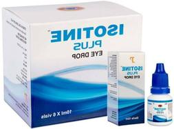 6 X ISOTINE PLUS  EYE DROPS BEST TREATMENT Pure Herbal and 1