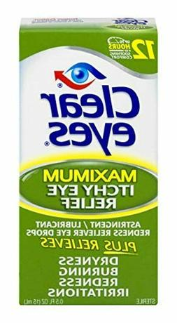 Clear Eyes | Maximum Itchy Eye Relief Eye Drops | 0.5 FL OZ