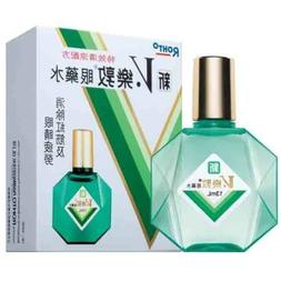 Japan New V Rohto Plus Eye Drops wash refresh eyedrops tired